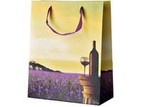 Taška dárková 260x320 mm víno a Provance
