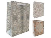 Taška dárková 100x150 mm ornamenty