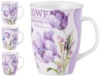 Hrnek keramika 340 ml flower, mix