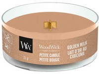 WoodWick Golden Milk svíčka petite