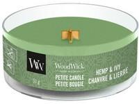 WoodWick Hemp & Ivy svíčka petite