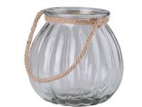 Lampa sklo 185x170mm se závěsem lano, čirá