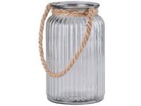 Lampa sklo 110x177mm se závěsem lano, čirá