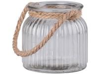 Lampa sklo 110x100mm se závěsem lano, čirá