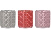 Svícen sklo 74x81 mm na maxi čajovou svíčku, mix barev
