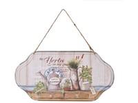 Cedule plechová  310x160mm, na zavěšení, Herbs