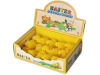 Kuře 15 ks, 70 mm žluté, box