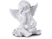 Anděl, sádrový 80x90mm, bílý