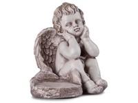Anděl, sádrový 238x200mm, lakovaný, barevný, hnědý