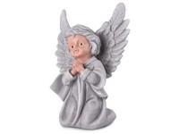 Anděl, sádrový 115x165mm, lakovaný, šedý