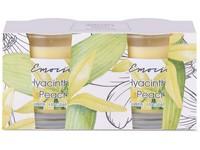 Emocio Sklo 50x63 mm 2ks v krabičce, Hyacinth & Peach vonná svíčka