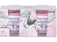Emocio Sklo 50x63 mm 2ks v krabičce, Magnolia & Tulip vonná svíčka
