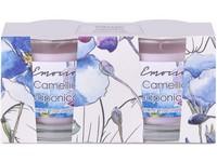 Emocio Sklo 50x63 mm 2ks v krabičce, Camellia Japonica vonná svíčka
