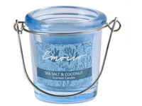 Emocio Sklo modré 49x66 mm Sea salt & Coconut vonná svíčka