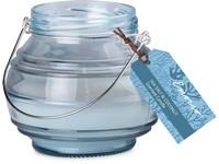 Emocio Sklo modré 115x100 mm Sea salt & Coconut vonná svíčka