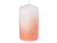 Válec 60x110mm Op art 3D geometrie, oranžová svíčka