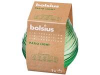 Bolsius Sklo Mission Green 91x94 mm se zeleným knotem Water zelená svíčka
