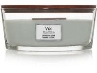 WoodWick Lavender & Cedar svíčka loď