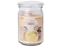 Emocio Sklo 93x142 mm se skleněným víčkem Creamy Vanilla vonná svíčka