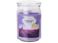 Emocio Sklo 93x142 mm se skleněným víčkem Lavender Fields vonná svíčka