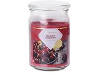 Emocio Sklo 93x142 mm se skleněným víčkem Black Cherry vonná svíčka