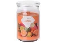 Emocio Sklo 93x142 mm se skleněným víčkem Citrus Energy vonná svíčka