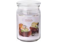 Emocio Sklo 93x142 mm se skleněným víčkem Tropical Coconut vonná svíčka