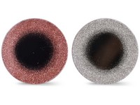 Podtácek na svíčku 100 mm kulatý zrcadlo s gliterm, růžová