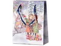 Taška dárková 180X230 mm děti + dárky s glitrem