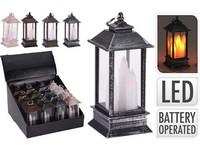 LED lucerna 130mm, imitace kovu, mix barev