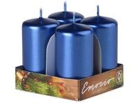Emocio Válec 4ks 40x75mm Metal modré svíčky