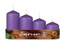 Emocio Stupně 4ks prům.50mm fialové svíčky