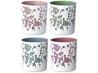 Svícen sklo na čajovou svíčku mix, mix barev