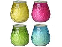 Citronela sklo mix, žlutá, růžová, zelená, modrá
