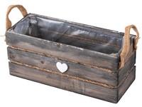Bedýnka dřevo 300X120X125mm, přírodní