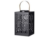 Lampa dřevo, 190x190x300mm, černá