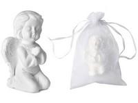 Mýdlo 65g Anděl klečící v organzovém sáčku, bílý