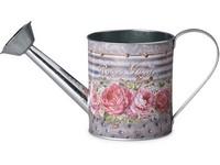 Konvička plechová 300x116x145mm, Rose Garden, mix barev