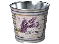 Květináč  plechový 133x115mm, klasik, Lavende, mix barev