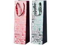 Taška na víno 105x360 mm mix, červená ,modrá