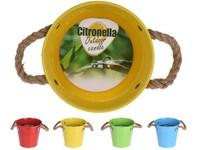 Citronela  plech 130x120mm kyblík, mix barev
