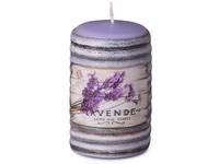 Válec 50x80mm aplikace Lavende svíčka