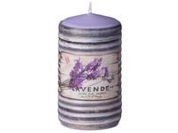 Válec 60x110mm aplikace Lavende svíčka