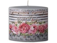 Elipsa 110x40x110mm aplikace Rose garden svíčka