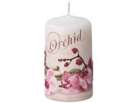 Válec 60x110 mm aplikace Orchid svíčka