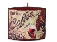 Elipsa 110x40x110mm aplikace Coffee svíčka