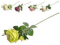 Umělé květiny, plast 800mm růže, mix barev