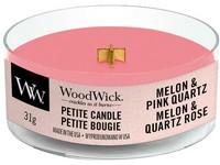 Woodwick Melon & Pink Quartz svíčka petite