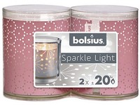 Bolsius Sparkle Light 2 ks 52x65mm Lace růžová svíčka
