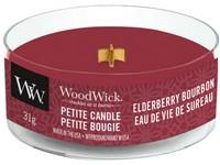 Woodwick Elderberry Bourbon svíčka petite